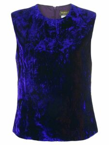 Versace Pre-Owned crushed velvet top - Blue