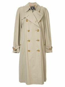 Burberry Pre-Owned long sleeve trenchcoat - Brown
