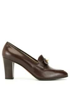 Chanel Pre-Owned CC turn-lock high-rise loafers - Brown