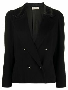 Versace Pre-Owned boxy double-breasted jacket - Black
