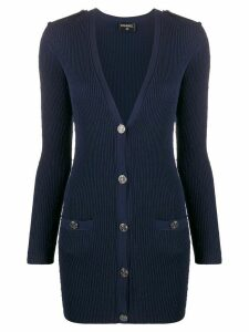 Chanel Pre-Owned 1990s diamond quilted fitted cardigan - Blue