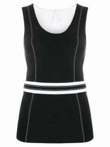 No Ka' Oi stitching detail sport T-shirt - Black