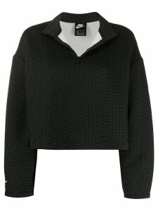 Nike polka dot henley sweatshirt - Black