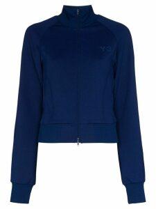 Y-3 jersey logo track jacket - Blue