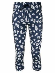 The Upside shell print midi leggings - Blue