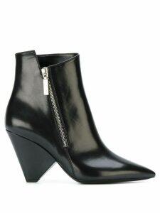 Saint Laurent Niki 85 asymmetrical boots - Black