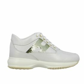 Hogan Sneakers Interactive Hogan Sneakers In Leather With H Of Sequins