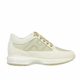 Hogan Sneakers Interactive Hogan Sneakers In Suede And Lurex Mesh With Rounded H