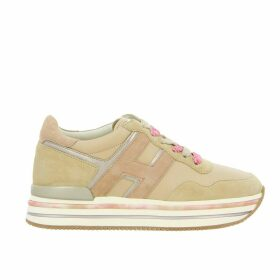 Hogan Sneakers Hogan 515 Platform Sneakers In Leather And Suede With Big H