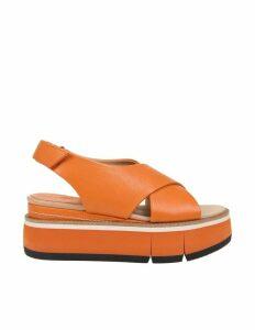 Paloma Barcelo orange Effie Sandal