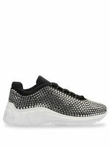 Miu Miu crystal embellished sneakers - Black