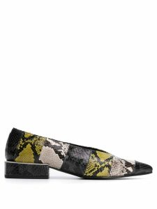 Vic Matie snakeskin effect ballerina shoes - Black