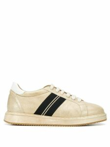 Brunello Cucinelli stripe detail sneakers - GOLD