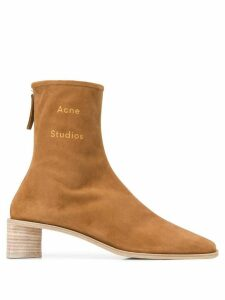 Acne Studios branded square toe boots - Brown
