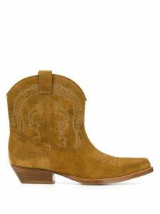 Ba & Sh Colt pointed boots - NEUTRALS