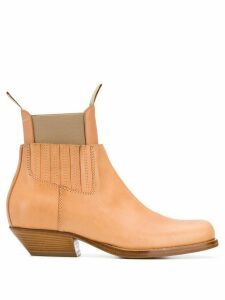 Mm6 Maison Margiela leather ankle boots - Brown