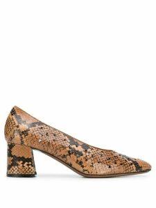 L'Autre Chose snakeskin-effect pointed pumps - Brown