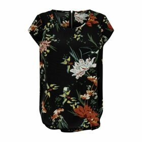 Short-Sleeved Blouse in Floral Print