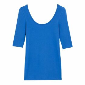Cotton Scoop-Neck T-Shirt
