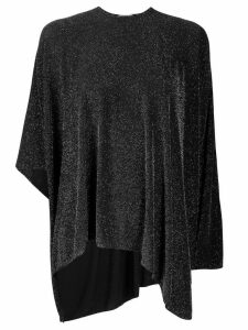 Balenciaga Glitter Draped Top