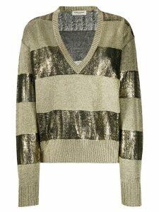 Saint Laurent Horizontal Striped Knitted Jumper