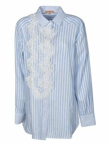 Ermanno Scervino Stripe Laced Detail Long Shirt