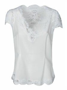 Ermanno Scervino Laced Capped Sleeve Blouse