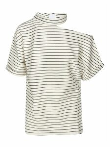 Erika Cavallini Exposed Shoulder Detail Striped Top
