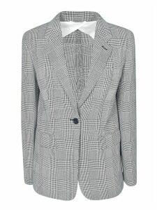 Max Mara Single-button Tartan Blazer