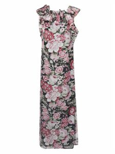 Parosh Floral Print Sleeveless Dress