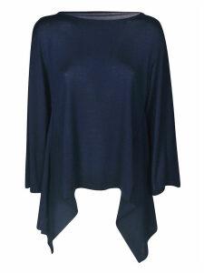 Alberta Ferretti Oversized Asymmetric Hem Top