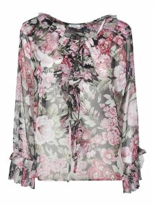 Parosh Floral Print Long-sleeved Blouse