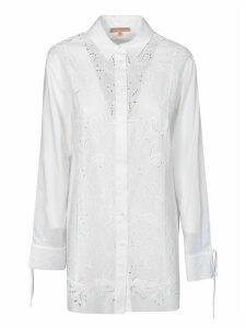 Ermanno Scervino Laced Detail Long-sleeved Shirt