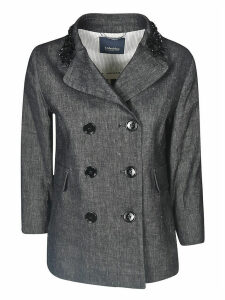 Max Mara The Cube Double-breasted Embellished Blazer