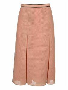 Fendi Mesh Flared Skirt