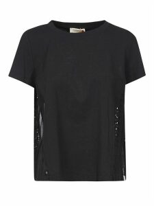 SEMICOUTURE Side Fringed Detail T-shirt