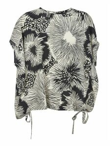 Aspesi Floral Print Oversized Top