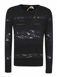 N.21 Floral Laced Detail Jumper