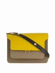 Marni Trunk contrast-panel shoulder bag - Yellow