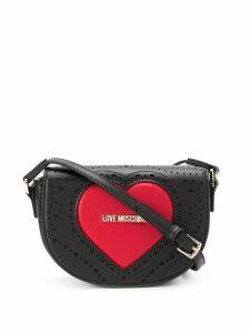 Love Moschino logo heart cross-body satchel - Black