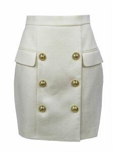 Balmain Short White Skirt