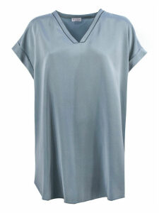 Brunello Cucinelli Dust Silk Blend Blouse