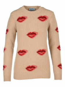 Prada Lip Intarsia Sweater