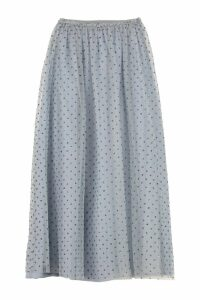 RED Valentino Glitter Polka-dot Tulle Skirt