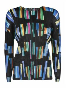 Pleats Please Issey Miyake Hopscotch Colors Top