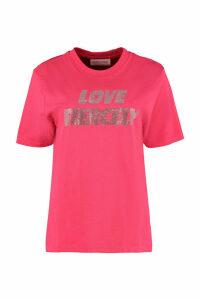 Chiara Ferragni Rhinestone Detail Cotton T-shirt