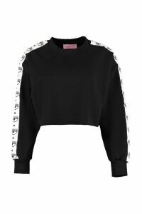 Chiara Ferragni Cotton Cropped Sweatshirt