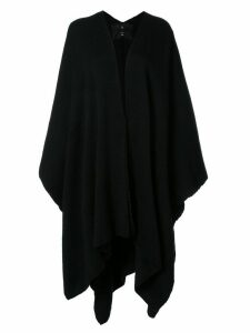Voz draped V-neck cape - Black