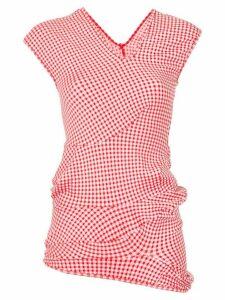 Comme Des Garçons gingham blouse - Red