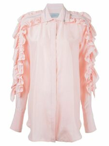 Preen By Thornton Bregazzi ruffled sleeve shirt - PINK